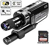 Aliynet Nachtsicht-Digital-Videokamera mit bis zu 100 m Ultra IR-Nachtsicht, 1080P 18-facher digitaler Zoom mit Monokular-Teleskop für Jagdbeobachtung, Nachtbeobachtung, Outdoor-Reise