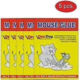 DeoDap Non-Toxic Odourless Adhesive Sticky Glue Rat Trap Pad - Set of 5
