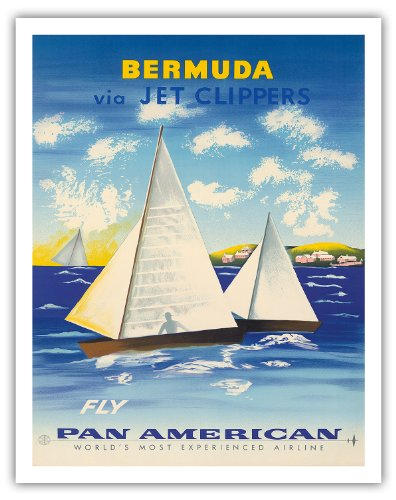 bermuda-par-un-coupe-jet-voler-pan-american-airlines-paa-voiliers-a-somers-iles-airline-affiche-vint