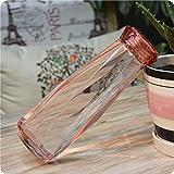 Youzhishui 620Ml Sommerwasserflasche Diamant Kunststoff Outdoor Sport Trink Shaker Flaschen,Rosa