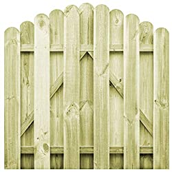 vidaXL Garden Gate FSC Impregnated Pinewood 100x100cm Arched Design Fence Door