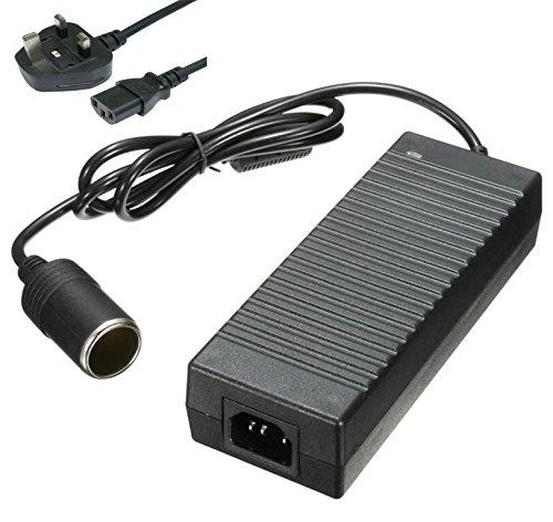 Car Power inverter–BW a corrente AC 100–240V DC 12V 10A accendisigari convertitore di tensione alimentatore universale, 12V DC 10A auto alimentazione