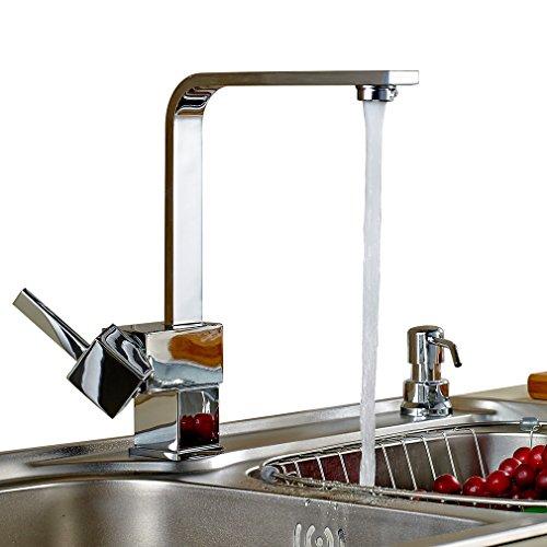 Auralum® Armatur Einhebel Wasserhahn Waschtischarmatur Wasserfall Waschbecken Bad Küche - 5