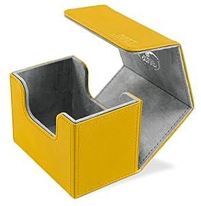 Ultimate Guard Caja de Cartas Sidewinder 80 Plus, tamaño estándar, Xeno Skin, en ámbar