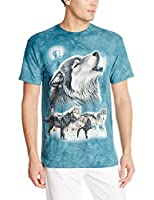 Old School Wolf Collage T Shirt Adult Unisex Mountain