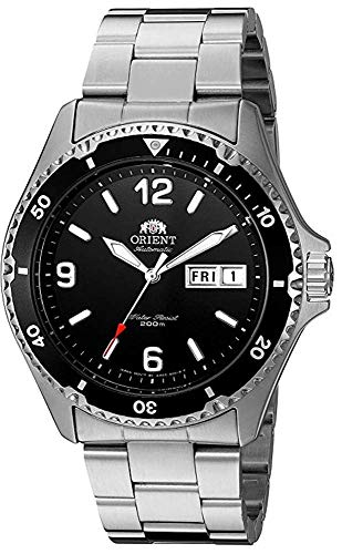 Orient Men's Analogue Automatic, Hand-Winding, Hacking Movement Watch with Stainless-Steel Strap FAA02001B9