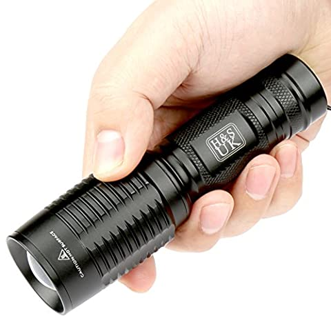 H&S® Super Bright CREE T6 LED Torch Zoomable Waterproof Flashlight Camping Light - XML
