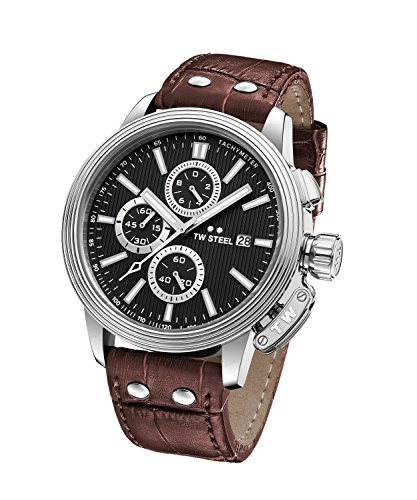 £327.59 New TW Steel 'CEO Adesso' Quartz Casual Watch with Brown Strap
