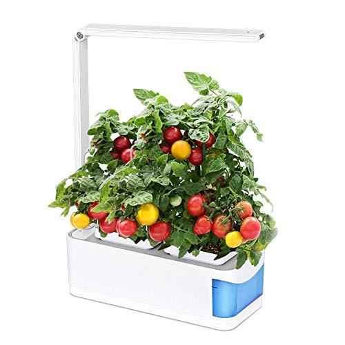 LED Pflanzenlampe Grow Light Vollspektrum, Pflanzenlampe für Hydroponik Zimmerpflanzen Blumen und Gemüse, Pflanzenlichtkit enthält zwei Pattern Plant Grow und Desk Lamp(Blau)