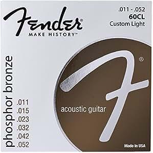Fender 60CL Jeu de Cordes pour Guitare acoustique