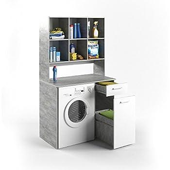 vicco waschmaschinenschrank kombination beton 185 x 103 x. Black Bedroom Furniture Sets. Home Design Ideas