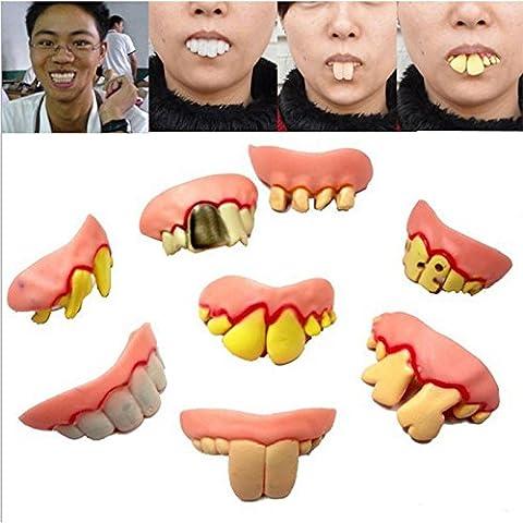 Edealing 2PCS DIVERTIDO DIENTES Broma diente falso truco de vestuario Prank Bob BROMA Novelty