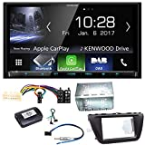 Kenwood DMX-7017DABS Apple CarPlay Android Auto Digitalradio Bluetooth Freisprecheinrichtung USB MP3 Autoradio Moniceiver Touchscreen Einbauset für Suzuki SX4 S-Cross