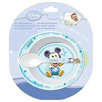 Rotho Babydesign 301210011 Esslernschüssel mit Löffel Mickey Mouse
