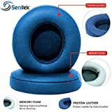 Senitek Solo2 Memory Foam Ear Cover Protein Leather Ear Cushion Replacement Parts Earpads For Beats Solo 2 Earpad On-Ear Headphone Ear Cups - Blue