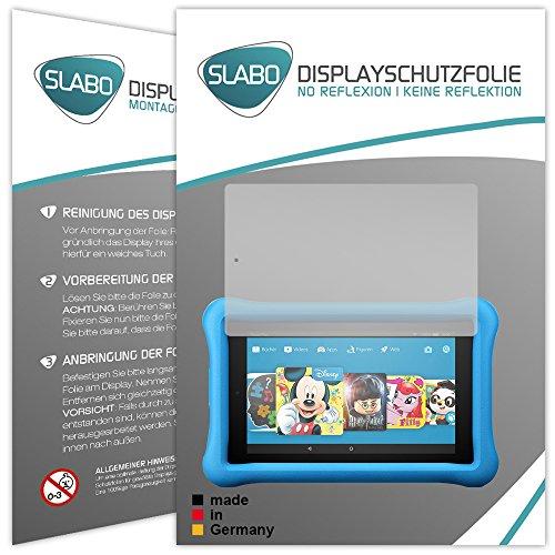 2 x Slabo Displayschutzfolie Amazon Fire HD 8 Kids Edition (7. Generation - 2017) Displayschutz Schutzfolie Folie 'No Reflexion|Keine Reflektion' MATT - Entspiegelnd MADE IN GERMANY