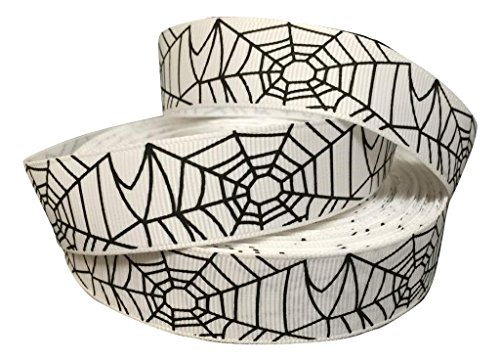 (1 METRE HALLOWEEN SPIDER WEB SPIDERMAN WHITE BLACK CHARACTER CARTOON RIBBON 1 25MM by THE RIBBON BOWTIQUE 2013)