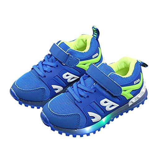 Malloom-Bekleidung Kinderkind-Mädchen-Jungen führten Hellen Buchstaben leuchtenden Sport-Maschen-Casaul-Schuhe im Freien