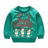 MIRRAY Weihnachten Kleinkind Kinder Baby Mädchen Jungen Langarm Cartoon Weihnachten Print Pullover Tops