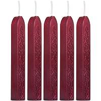 sungpunet 5pcs Vino rojo cera palos de mechas para gastos de envío letra manuscrito sellado sello