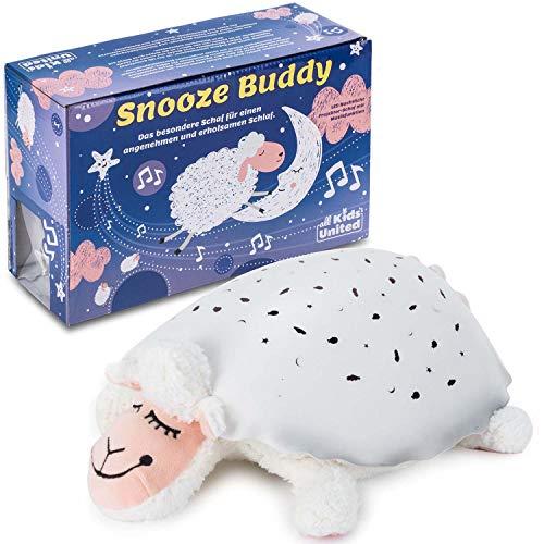 all Kids United Snooze Buddy - Luz Nocturna LED con Forma de Oveja para Dormir, diseño de Cielo Estrellado