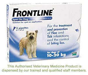 Frontline Spot On Flea Drops Medium Dog 10-20kg 6pk from Frontline