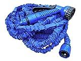 Yachticon Flexischlauch Wasserschlauch mit 7fach-Multifunktions-Sprühpistole Länge max. 22,5 m