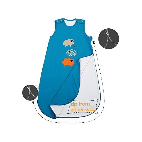 i-baby Saco de Dormir Infatil Bebé Niños Niñas 1.5 TOG Sin Mangas Bolsas de Dormir Suenos Pijama Mantas de Algodón Recubierto con Cremallera para 1 2 3 años Dibujos Animados