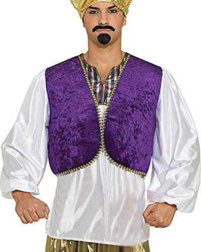 ween Party Kostüm Aladdin Genie Sultan Prinz Kleid Outfit (Genie Outfits Für Erwachsene)