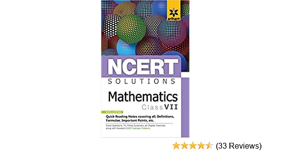 Buy NCERT Solutions Mathematics for class 7th Paperback Arihant Book