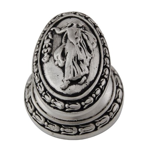 Vicenza Designs K1030 Sforza Woman Oval Knob, Large, Antique Nickel -