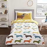 Bettwäsche-Set für Einzelbett, Motiv: Dackel