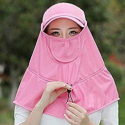 Q.AWM Indumentaria Sombreros Sombreros de Sol para Mujer Verano Ancho y Transpirable Cubierta de ala Ancha Cara Cuello Protección Anti-UV Ciclismo, 5 Colores, 2 Tipos de Adornos Hermosos
