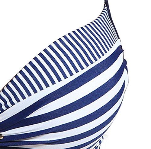 KUWOMINI.Fashion Gitter Kleiner Winkel Bikini Badeanzug Weibliche Hütte Kleine Brust Zu Sammeln War Dünn Selbst-Anbau Heiße Quelle Badebekleidung Yellow