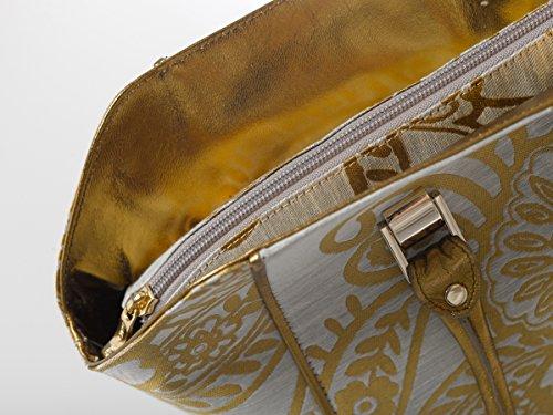 Di Santo Bags - Borsa London Grigio e oro