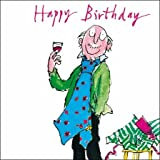 Greetings Card - Quentin Blake (WDM4609) Man with Glass of Red Wine