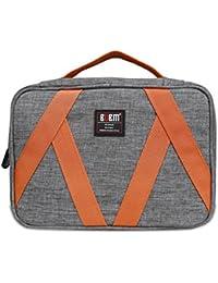 BUBM colgantes Neceser - Kit de viaje Organizador para el maquillaje de las mujeres y los hombres y estética Bolsa, gris y naranja