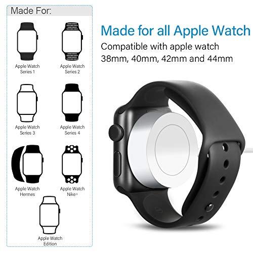 e22e96b0bff OPSO Cargador para Apple Watch [Apple MFi Certificado],Magnetic Cable de  Carga para
