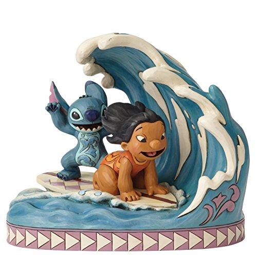 Disney Traditions Figura Decorativa de Lilo and Stitch Haciendo Surf