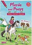 Pferde und Ponys: Malen Lernen Rätseln: Mit Stickern!