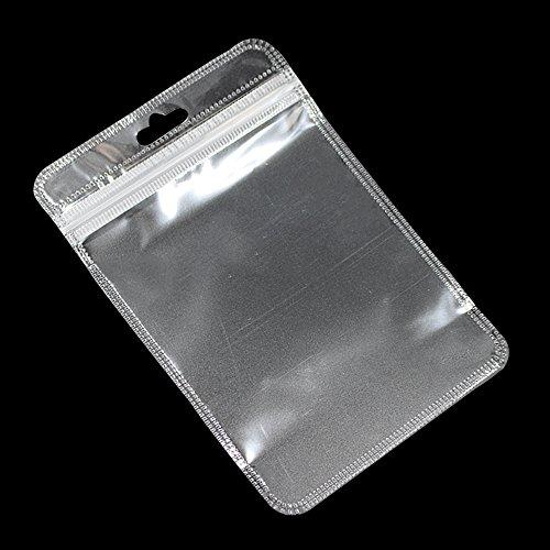 5.5x9cm Durchsichtig Poly Reißverschluss Verpackentaschen mit Loch Hänge Klar Plastik Zioplock Beutel für Lebensmittel Süßigkeiten Verpackung Tüten 500 Stück