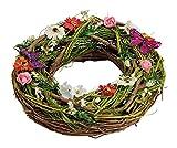 foolonli Osterkranz aus echt Holz und Deko Eiern Frühling Ostern