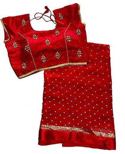 Balaji Fashion Brocade & Georgette Saree (D.No Dvs 5008_Multi-Coloured)