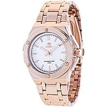 Ref. B41153/3 Reloj Marea Señora, caja y brazalete de acero rosé, sumergible 50 metros, garantía 2 años.