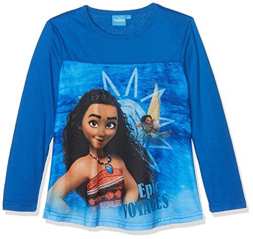 Vaiana LS a-Shape T-Shirt, Top de Manga Larga Para Niñas, Azul (Dark Blue), 8 Años