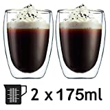 Best handmade Espresso Machines - SPARES2GO 175ml Double Walled Thermal Coffee Glass Tumbler Review