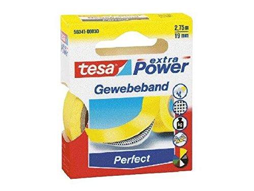 Gewebeklebeband extra Power Gewebeband, 2,75 m x 19 mm, gelb(Liefermenge=2)