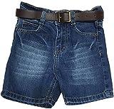 B&B Short For Boys Cotton Linen Blend, Cotton Nylon Blend, Cotton Linen Blend(Dark Blue)