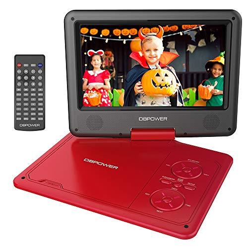 DBPOWER 9.5'' Tragbarer DVD-Player mit Wiederaufladbarer Batterie,