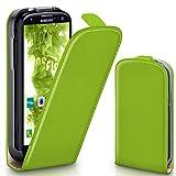 moex Samsung Galaxy S3 | Hülle Grün 360° Klapp-Hülle Etui thin Handytasche Dünn Handyhülle für Samsung Galaxy S3 / S III Neo Case Flip Cover Schutzhülle Kunst-Leder Tasche